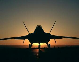 F22 Sunset Wallpaper Background