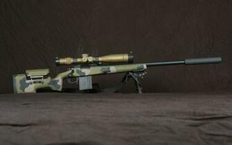 Sniper Rifle brown gun military rifle sniper