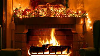 Fireplace   Christmas decoration Live Wallpapers