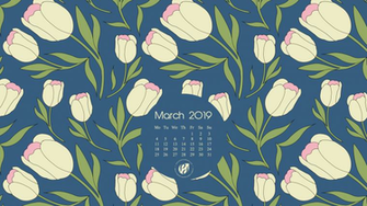 March 2019 calendar wallpapers printable planner