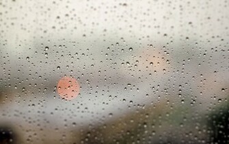 Glass window rain storm drops lights water wallpaper 1920x1200