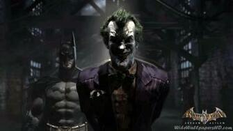 Image   Batman With Joker In Pen Batman Arkham Asylum Wallpapersjpg