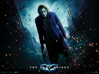 Heath Ledger as The Joker   Gotham City Wallpaper 9970933