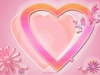 pink valentine heart wallpaper