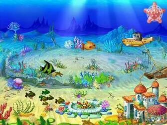 Aqua Screensaver   Aqua Castles   FullScreensaverscom