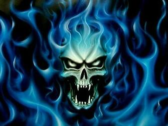 blue fire skull wallpaper Quotes