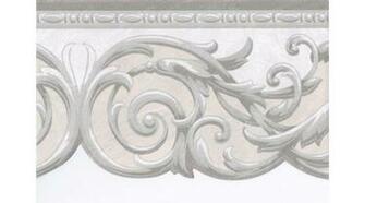 Home Green Grey Cream Silver Molding Wallpaper Border