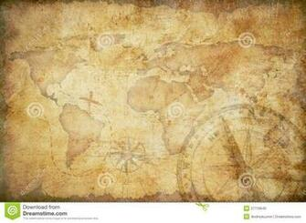 Aged Treasure Map Background Stock Photo   Image 27719540