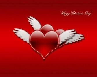 Valentines Day Wallpapers Valentine Hearts With Wings Wallpapers