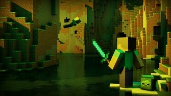 minecraft wallpaper by killer3276 fan art wallpaper games 2012 2015