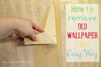 hip2thrift How to remove old wallpaper easily Bathroom Makeover