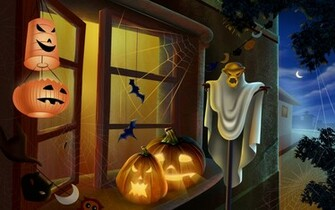 animated halloween wallpaper windows 7 With Resolutions 19201200