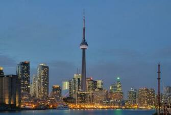 Toronto Skyline At Night 1920x1080p HD Architecture Travel Wallpaper