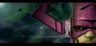 GALACTUS AND SILVER SURFER by themico