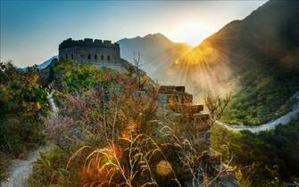 Great Wall of China Sunset Wallpaper HD