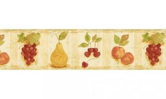 Home Wallpaper Borders Kitchen Borders Fruits Wallpaper