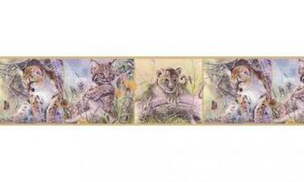 Home Animal Borders Wild Cats Animals Wallpaper Border B76371