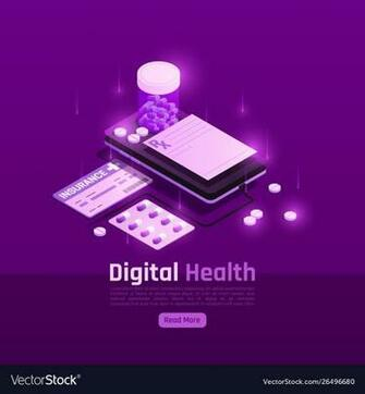 Digital insurance pills background Royalty Vector Image