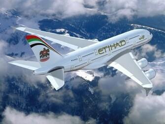 Wallpaper Airbus A380 Etihad Etihad Airways Airbus A380 airline of