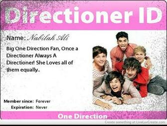My One Direction Name Card Picture by Bilabong Forever   Inspiring