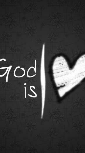 God Is Love Heart Wallpaper   iPhone Wallpapers