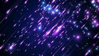 4k 60FPS SHOOTING STARS Deep Purple BLUE SPACE Moving