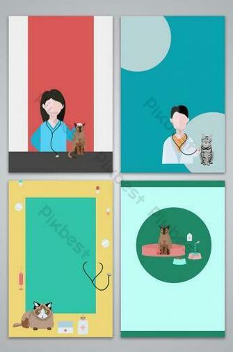 Vector pet hospital vet poster background image Backgrounds