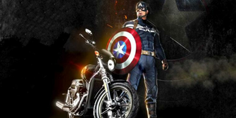 captain america harley desktop hd wallpaper Desktop Backgrounds for