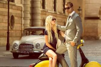 vespa vintage boy girl street a car wallpapers photos pictures