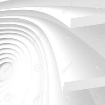 Futuristic Architecture Background White Abstract Wallpaper