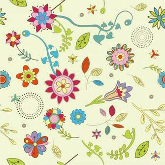 Name Abstract Flower Pattern Background Vector Graphic