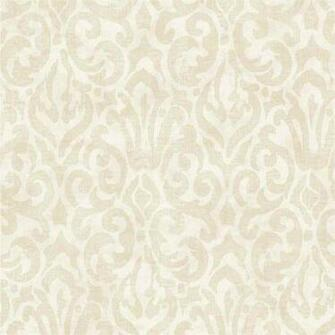 Beige White Emerson QE14004 Wallpaper   Traditional Wallpaper