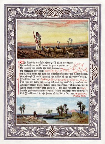 restoration of an image of psalm 23 king james version frontispiece