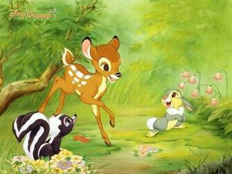 Disney Cartoon Bambi and Friends Wallpaper