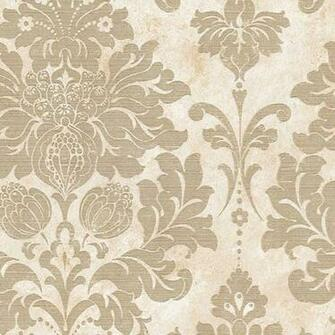Large Damask in Gold and Beige   MD29414   Traditional   Wallpaper