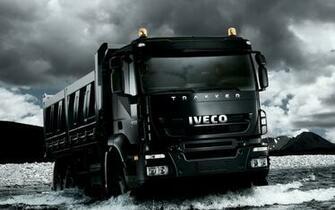Black Iveco Trakker Truck HD Desktop Wallpaper