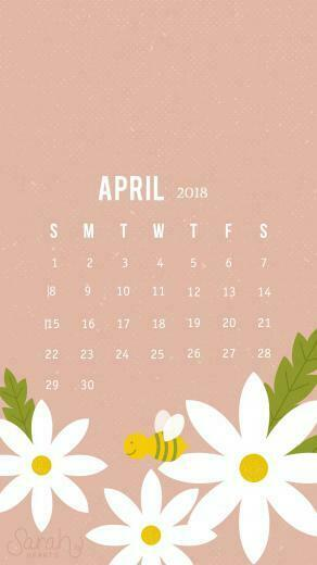 Cute April 2018 iPhone Calendar Wallpaper Calendar 2018