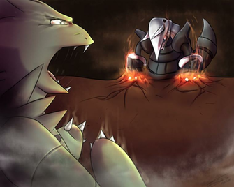 Aggron VS Tyranitar by DeanouV2