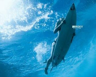 Surfing Duck Dive Roxy Surf Wallpaper 1280x1024 Full HD Wallpapers