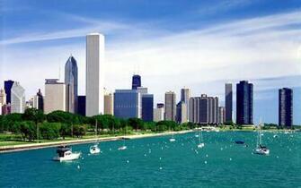 Buildings City Chicago Illinois Lake Michigan