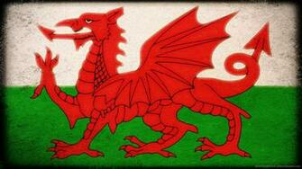 Flag of Wales for 1366x768 Dragons Wales flag Pictures of