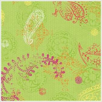 Paisley Lime Wallpaper   Wall Sticker Outlet