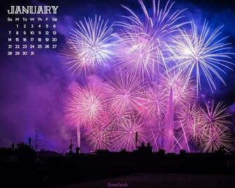 January 2018   Fireworks Desktop Calendar  January
