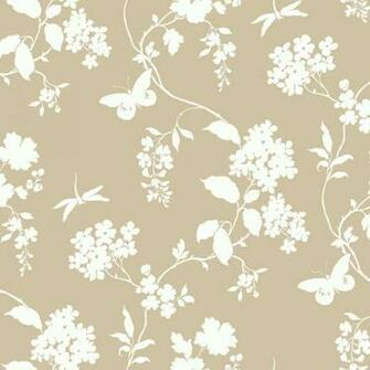 Beige Scenic Vines Wallpaper   Wall Sticker Outlet