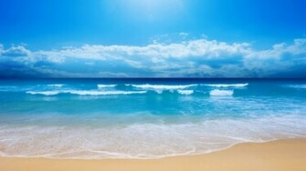 Ocean Waves Wallpaper s Powerful big waves in the blue ocean showing