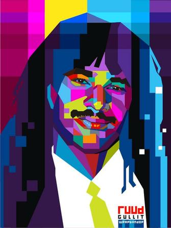 Ruud Gullit Pop Art WPAP by ndop