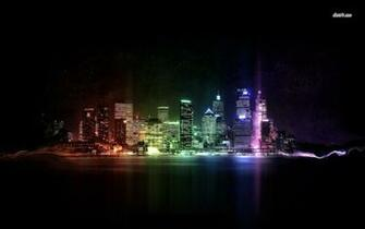 Neon city lights wallpaper   Digital Art wallpapers   13002