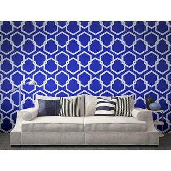 Tempaper HONEYCOMB Deep Blue Wallpaper   Tempaper Designs