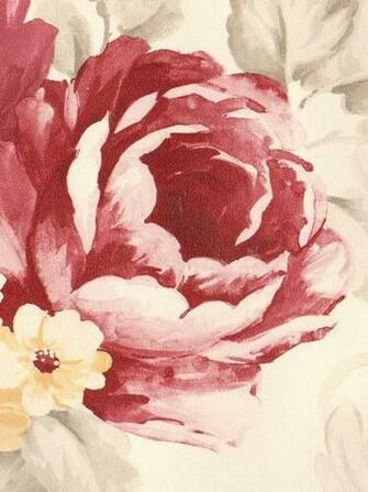 Soft Flowers Burgundy White Yellow Wallpaper Border 1022 eBay
