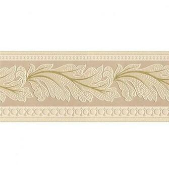 Graham Brown 5 in Gold Leaf Textured Prepasted Wallpaper Border